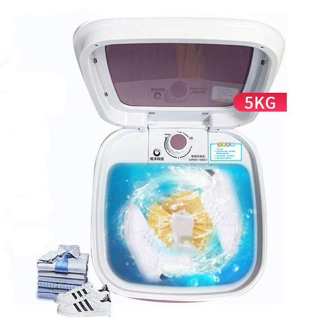 5kg Shoes Washing Machine Mini Single Tube Washer and Dryer Machine for Shoes Clothes Dual-use Clothes Washer Shoes Cleaner 220V