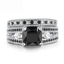 Diamant Ringe Für Frauen Hochzeit Engagement Ring Band Zirkon Platin Cubic Ringe Natürliche Edelstein 925 Silber Farbe Schmuck Geschenk