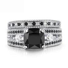 Elmas yüzük kadınlar için düğün nişan bant yüzük zirkon platin kübik yüzük doğal taş 925 gümüş renk takı hediye