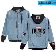 Preferential High Quality Stranger things Hoodies Denim jacket Men/Women sweatshirt Stranger things Boy/Girl Pullovers