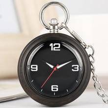 Quartz Pocket Watches Men Necklace Chain Concise Woooden Dial Alloy Rough Chain Women Wood Pendant Watch Gift relogio de bolso