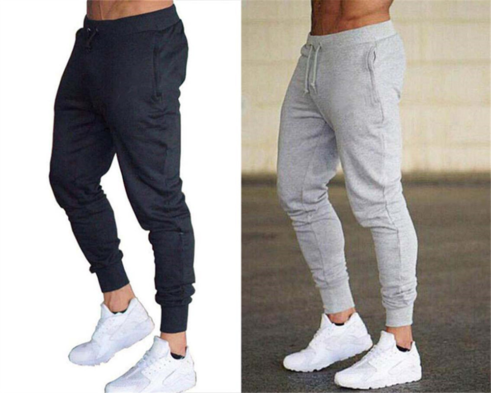 Mens Joggers Casual Pants Fitness Male Sportswear Tracksuit Bottoms Skinny Sweatpants Trousers Black Gym Jogging Track Pants