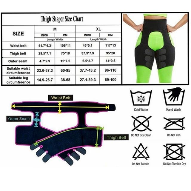 Hot Neoprene Slimming Waist Shapers Belt Butt Lifter and Thigh Trimmer Slimming Leg Shapers Push Up Neoprene Sweat Shapewear 5