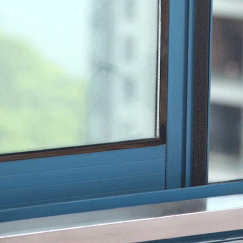 4 pçs macio auto-adesivo tira de vedação porta janela isolamento de ruído de borracha fita de vedação de poeira eva tape blocker sealer rolha