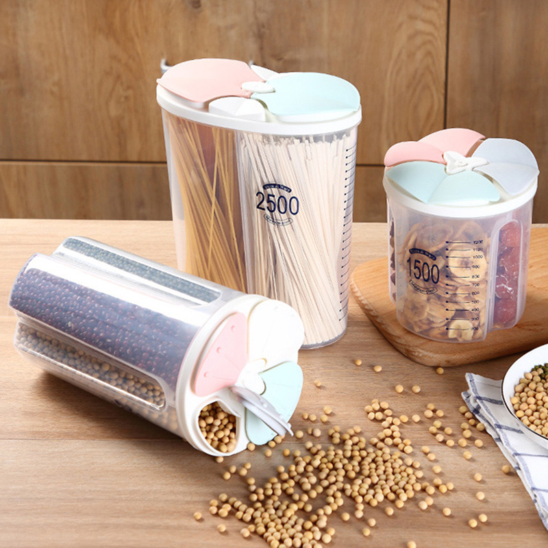 Healthy Containers Cereal Grain Dry Food Storage Tank Transparent Cover Plastic Case BJStore|Bottles Jars & Boxes| |  - title=