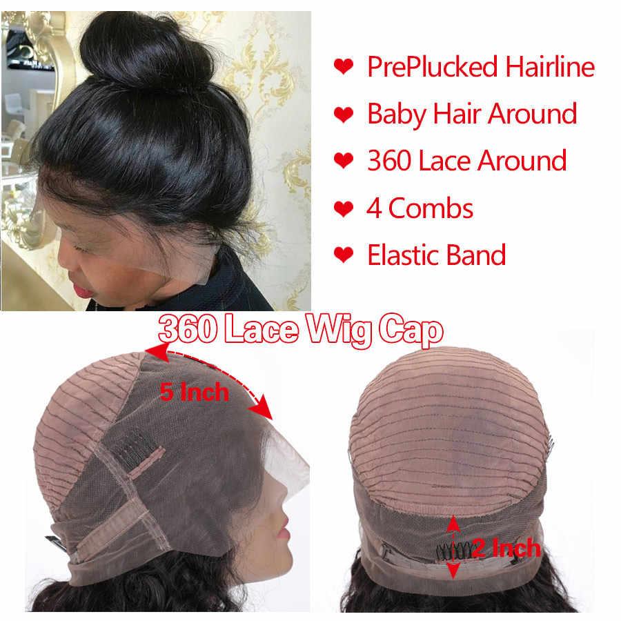 250 gęstość koronki peruka 360 czołowa koronki peruka peruwiański ciało fala koronki przodu włosów ludzkich peruk dla czarnych kobiet Pre oskubane RXY RemyHair