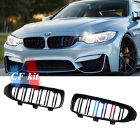 CF Kit Grill Glossy Black&M color Front Kidney Grille For BMW F32 F33 F36 F80 F82 F83 Racing Grills Car Style