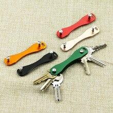 LLavero de aleación de aluminio Flexible sostenedor de la llave Clip EDC aluminio llavero Clip llaves organizador carpeta llaves cartera