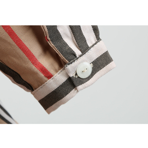 Image 5 - 女の子ドレス長袖 2020 春子供ドレスガールズストライプボウ子供幼児のためのガール服 2 6Years