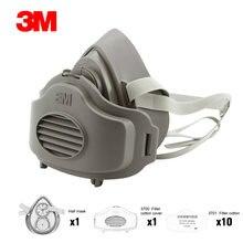 3701CN 3M 3200 Máscaras Filtro de algodão Meia Face Máscara de Poeira-prova Anti Poeira Haze Nevoeiro Máscara de Gás de Segurança de Construção industrial