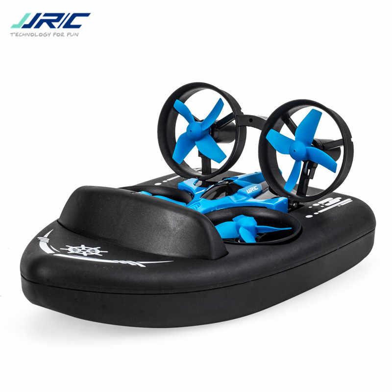 Actualizado H36 JJRC H36F Terzetto 1/20 2,4G 3 en 1 RC vehículo Drone volador Barco de conducción en tierra Mini MODELO DE Dron Toys RTR VS E016F