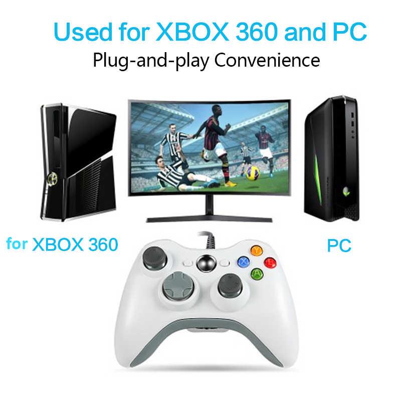 Gamepad Xbox 360 için kablosuz/kablolu denetleyici XBOX 360 Controle kablosuz oyun kolu Joypad PC XBOX360 oyun denetleyicisi