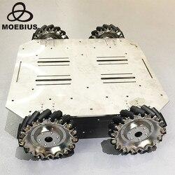 70 кг сверхмощная колесная тележка Mecanum, всенаправленное колесо, мобильное Металлическое шасси робота для исследований