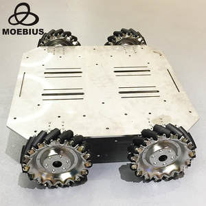 Mecanum-Wheel Trolley Research Chassis Mobile-Robot for 70kg Heavy-Duty Metal