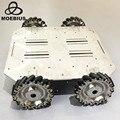 4000597236501 - Carro de ruedas Mecanum de alta resistencia de 70kg, rueda omnidireccional, Robot móvil, chasis de Metal para la investigación