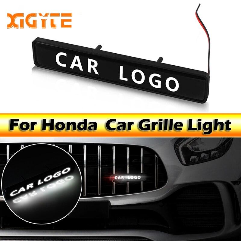 R//T Logo LED Light Car Front Grille Emblem Badge Illuminated Sticker For Dodge