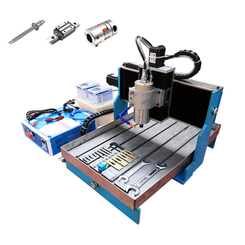 <font><b>cnc</b></font> lathe machine with linear guideways 6040L 1.5KW USB LPT 3 axis 4 Axis Metal Engraving Machine steel table <font><b>60</b></font>*<font><b>40</b></font> <font><b>CNC</b></font> router image