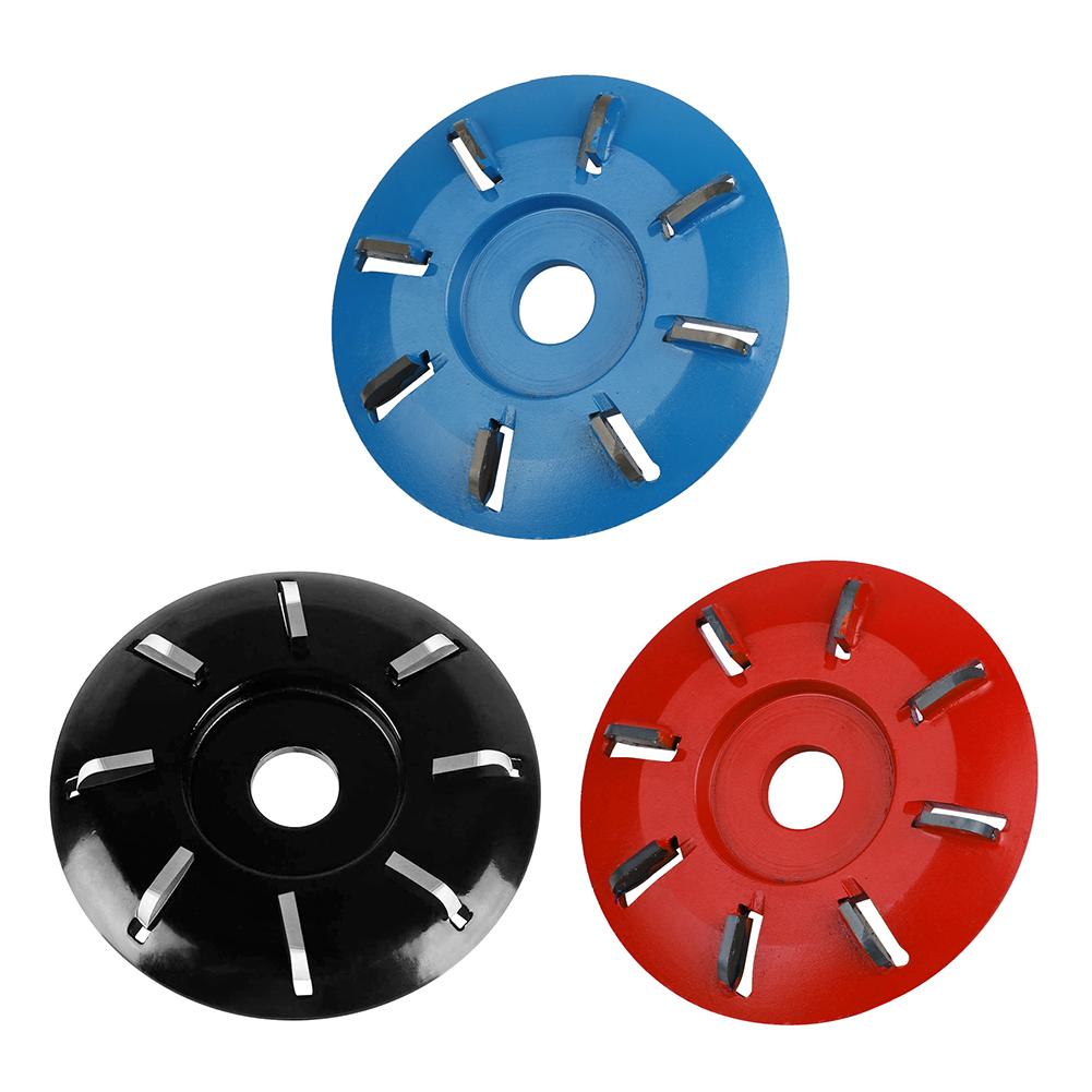 90mm Diameter 16mm Bore Rotary Planer Eight Teeth Woodworking Turbo Tea Tray Digging Wood Carving Disc Tool Milling Cutter