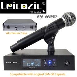 Leicozic QLXD Digital Microphone Wireless System QLXD4 Handheld Cordless Microfono Fit SM-58A Beta87 Beta58a Capsule 628-668Mhz