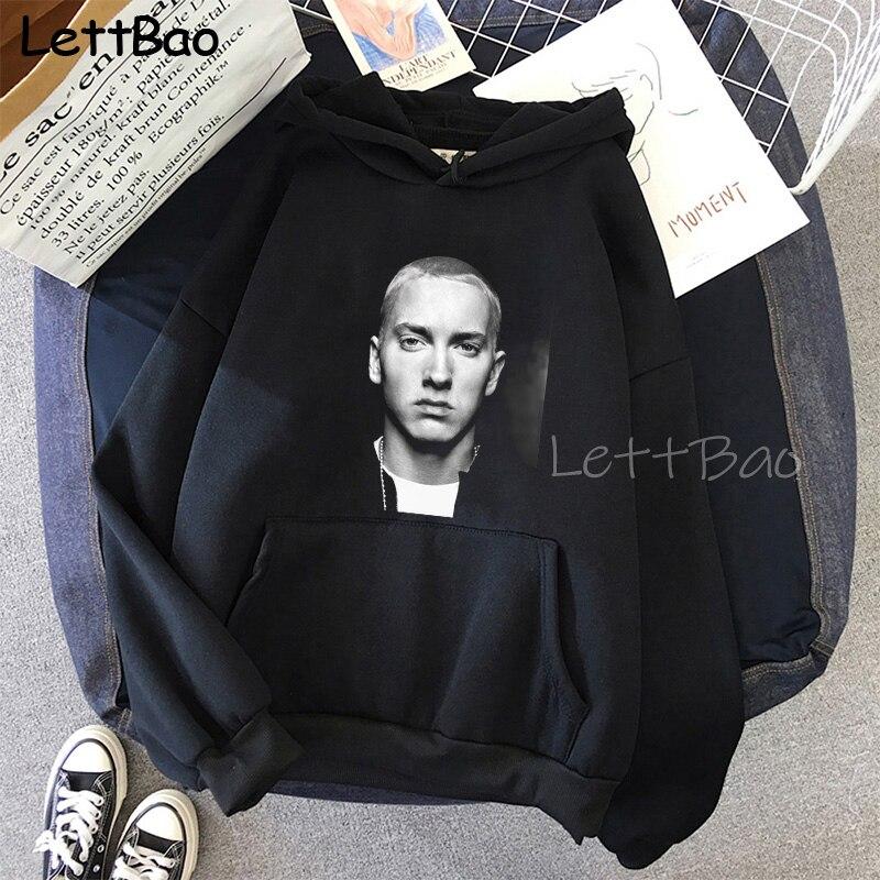 Eminem Cool Black Unisex Hoodies Sweatshirt Hip Hop Rap Punk Style Tops Pullover HipHop Rock Gothic Winter Coat Women Men Hoodie 10