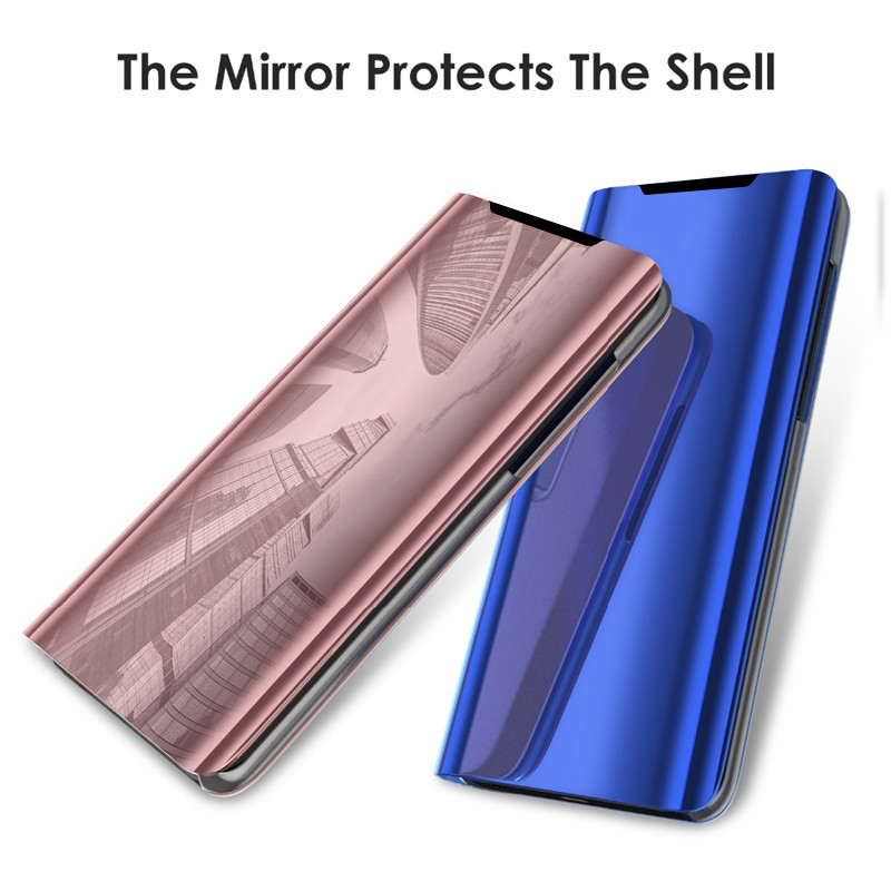Mirror Flip Phone Case For Samsung Leather Back Cover On Galaxy S11 S11plus S11E Shell Protective Phone Cases