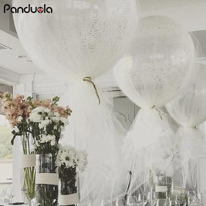 Image 3 - 36inch Confetti Balloon Tulle Round Giant Balloons Happy Birthday New Year Wedding Xmas Christmas Decoration Party Fovors Globos