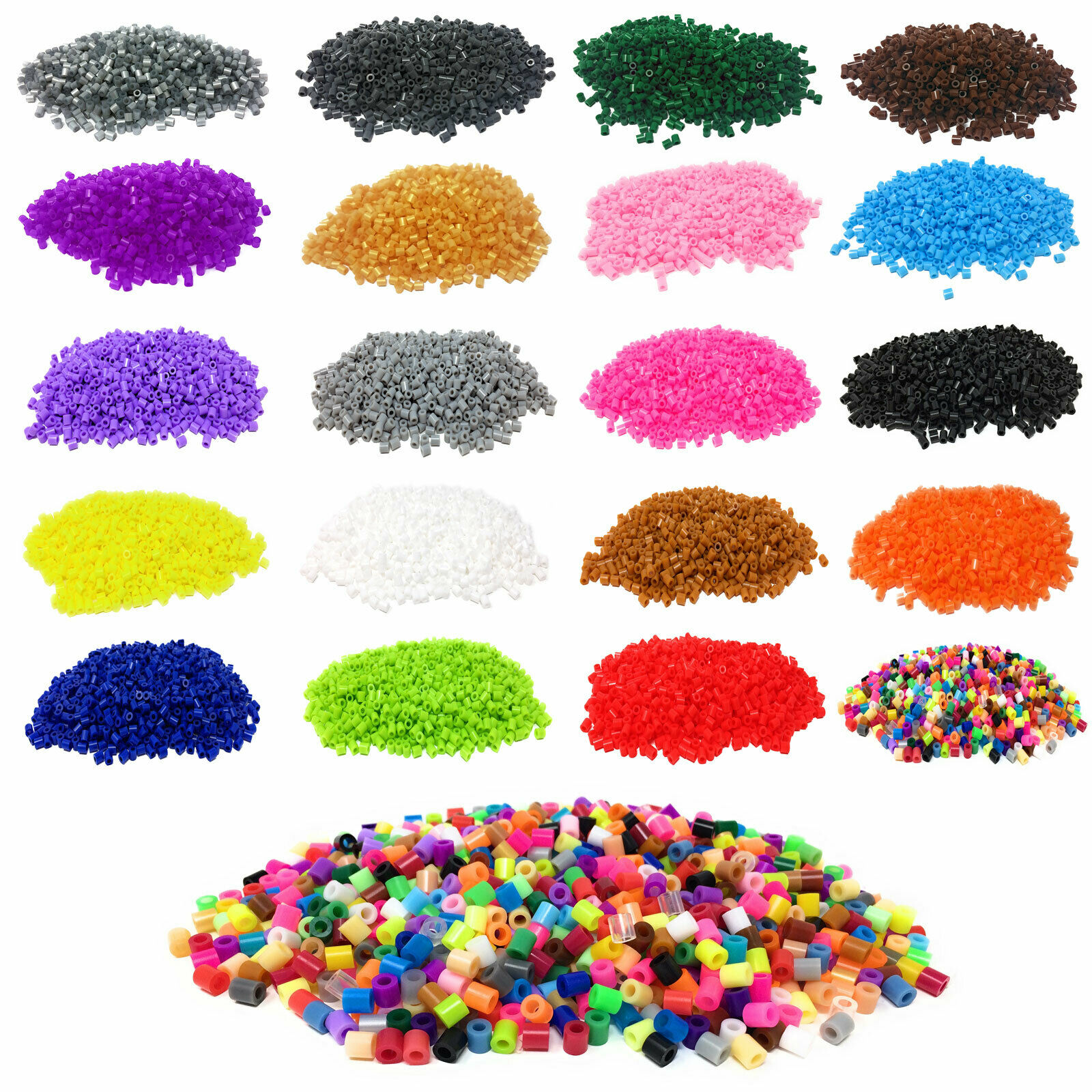 Fuse Beads 1000 Pack Hama Beads 5mm Midi Work Like Hama Bead Mixed Iron Kids Arts & Crafts Educational Toys(China)
