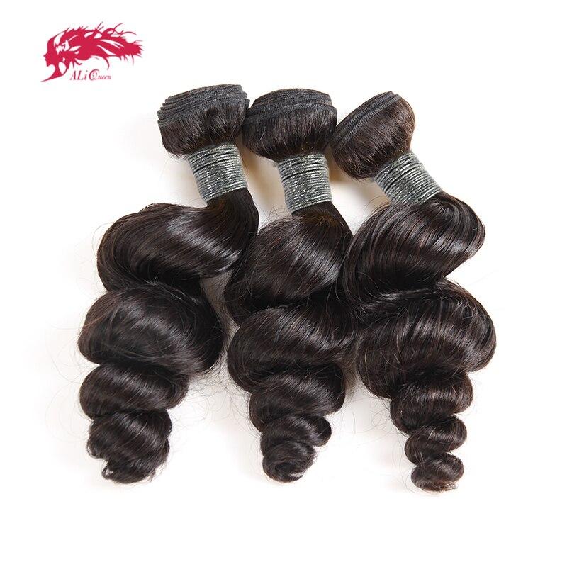 3/4 pçs peruano onda solta 100% cabelo humano tecelagem ali rainha produtos de cabelo cor natural 10-26 Polegada remy cabelo tece pacotes