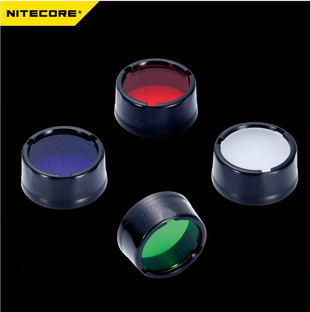 Original NITECORE Filter NFR25 NFG25 NFB25 NFD25 For Flashlight With Head 25.4mm For Nitecore EA1 EA2 EC1 EC2 MH1A MH2A MH1C