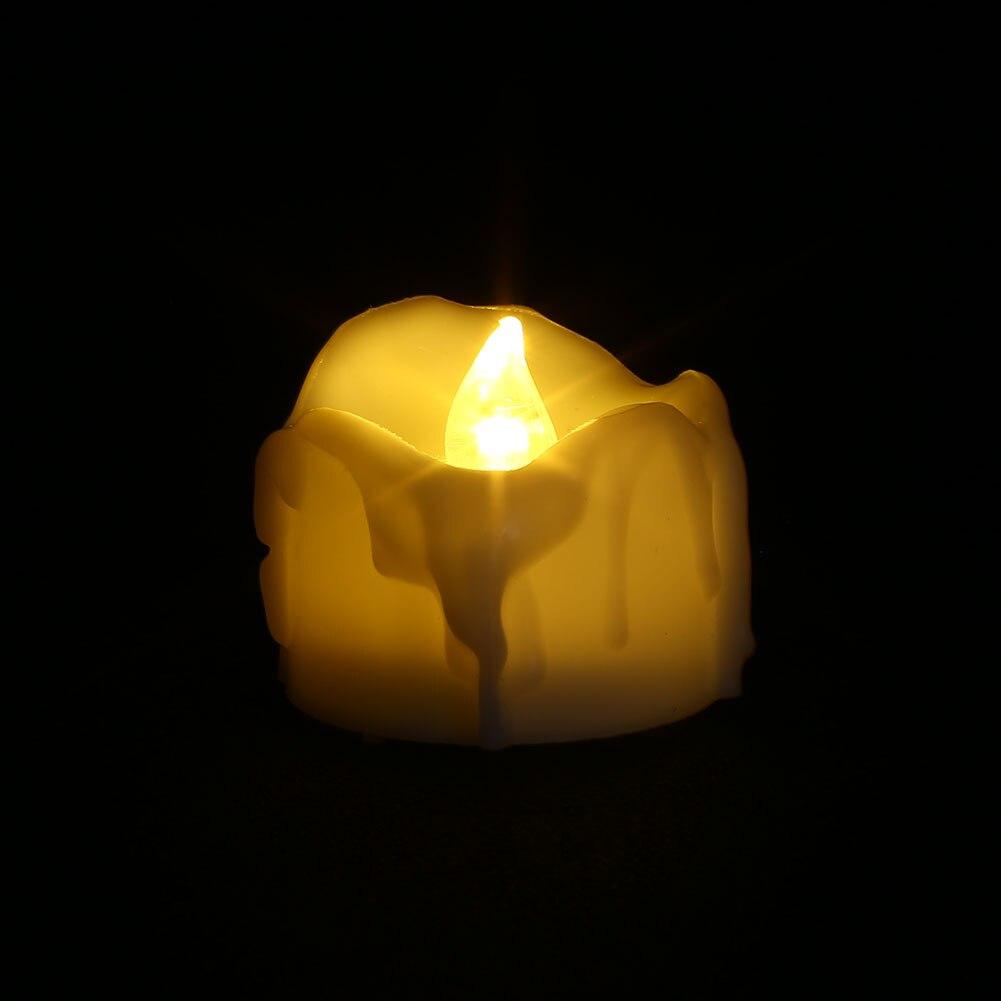 Мини-Свеча лампа Мерцающая Беспламенное освещение украшения для дома спальни