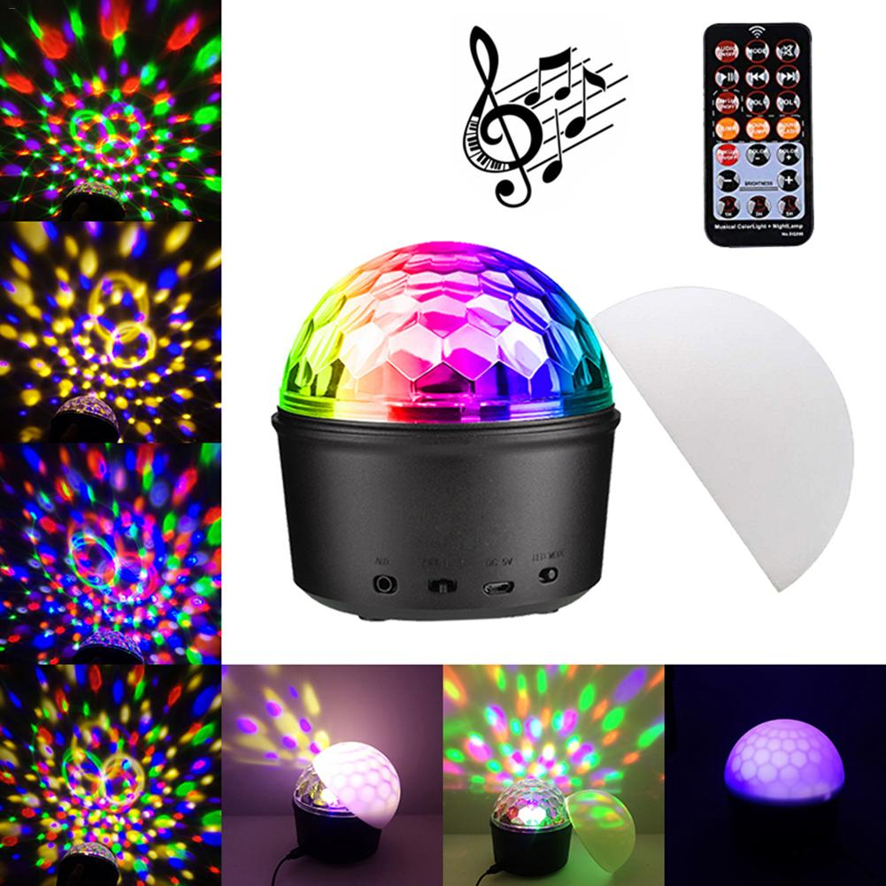 Sound Activated Rotating Disco Ball DJ Party Light 3W 3LED RGB LED Stage Light For Christmas New Year Wedding Sound Party Lights