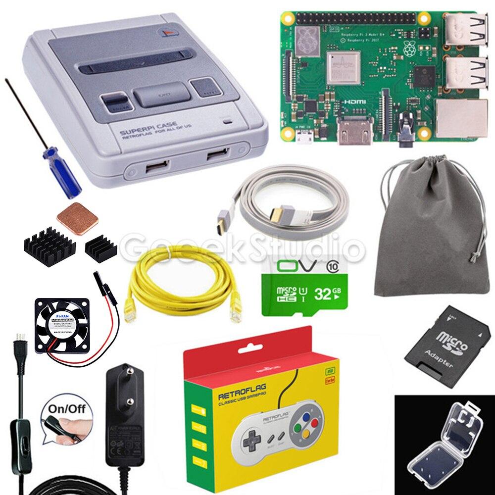 Retroflag Original SUPERPi CASE-J NESPi Case Functional Button Optional Game Controller Carry Bag For Raspberry Pi 3B+ / 3B / 2B