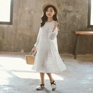 Image 4 - חדש 2020 בנות לבן שמלת כותנה Loose שמלת ילדי תינוק נסיכת ילדה שמלת ילדי בגדים קוריאני אישיות, #5341