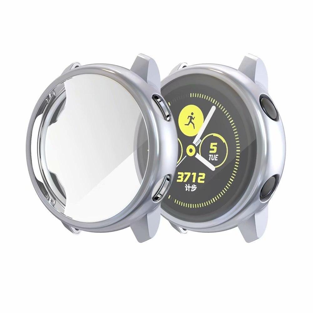 Ультратонкий Мягкий чехол для samsung Galaxy Watch Active, прозрачный защитный чехол из ТПУ для Galaxy Active, 40 мм, полностью силиконовый чехол - Цвет: Gray