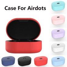 Xiaomi Redmi Airdots Tws 에어 도트 케이스 보호 커버 mi airdots 용 소프트 코크 Etui 이어 버드 Eirdots In ear Carcasa Funda