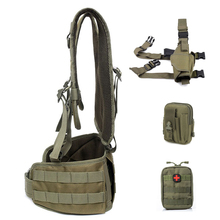 Army Tactical Vest Military Molle Combat Girdle Molle Pack Bag Carrier Airsoft Removable Belt Waistcoat CS Wargame Hunting Gear
