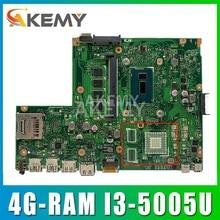 Akemy X540LJ Laptop motherboard para ASUS VivoBook X540L R540L F540L A540L X540LA mainboard original 4G-RAM I3-5005U