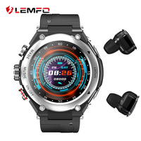 LEMFO-reloj inteligente deportivo para hombre, dispositivo con TWS, Bluetooth, llamada, música, temperatura corporal, para teléfono Android IOS, 2021
