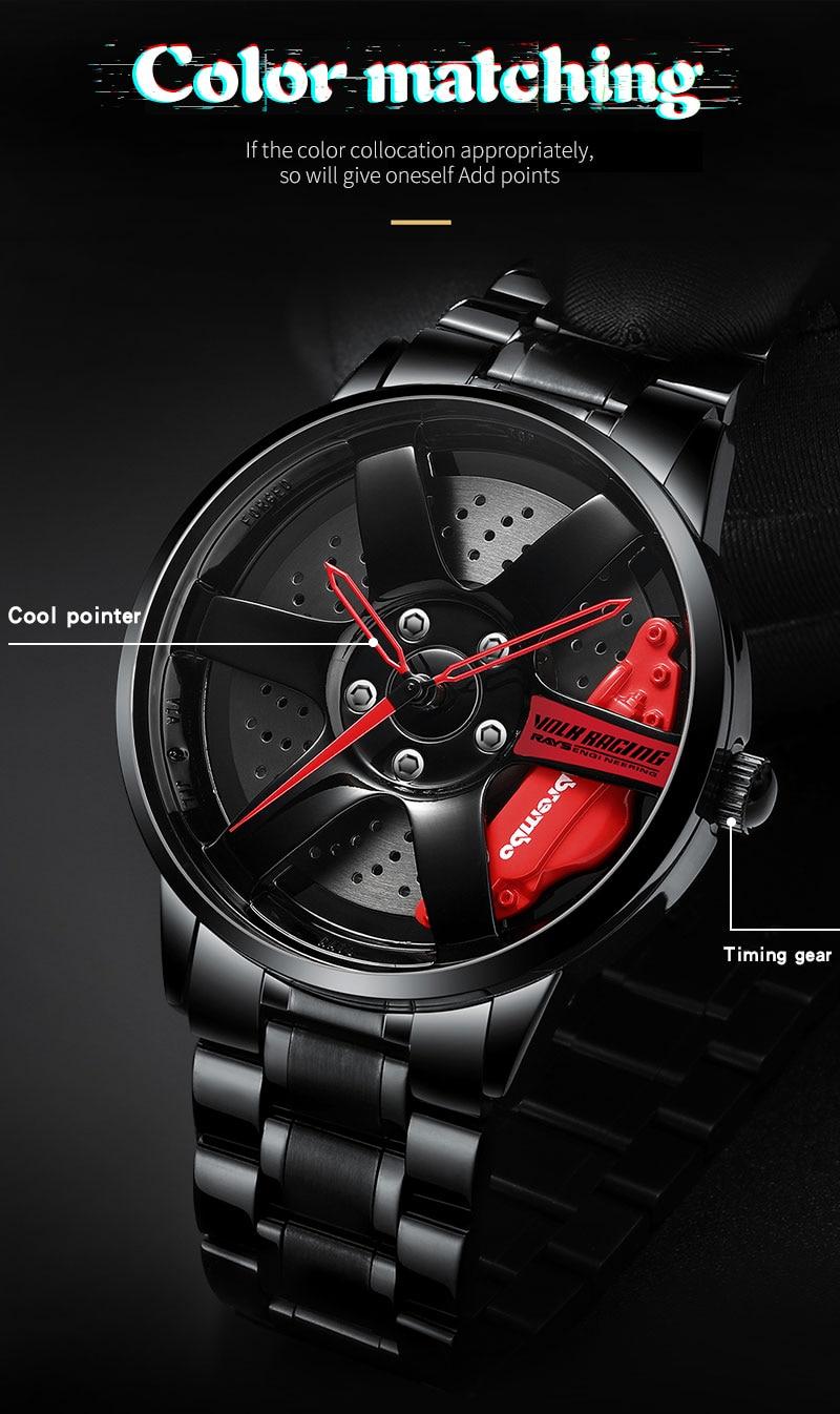 Hc41d2872e4a44a81835af73d5cae5100h NEKTOM men watch classic simple fashion waterproof sport watch men's quartz mesh with rim hub watch run quartz men quartz watch