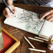 1pcs Creative 288 Sheets Amoy Impression Hand-painted Drawing Notebook Fashion Tourist Attraction Tibet Dali Printing Sketchbook