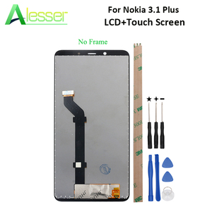 Image 1 - Alesser 노키아 3.1 플러스 LCD 디스플레이 및 터치 스크린 스크린 디지타이저 어셈블리 교체 노키아 3.1 플러스 + 도구 + 접착제