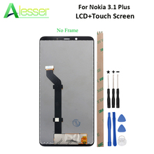 Alesser For Nokia 3.1 Plus LCD Display And Touch Screen Screen Digitizer Assembly Replacement For Nokia 3.1 Plus +Tool +Adhesive
