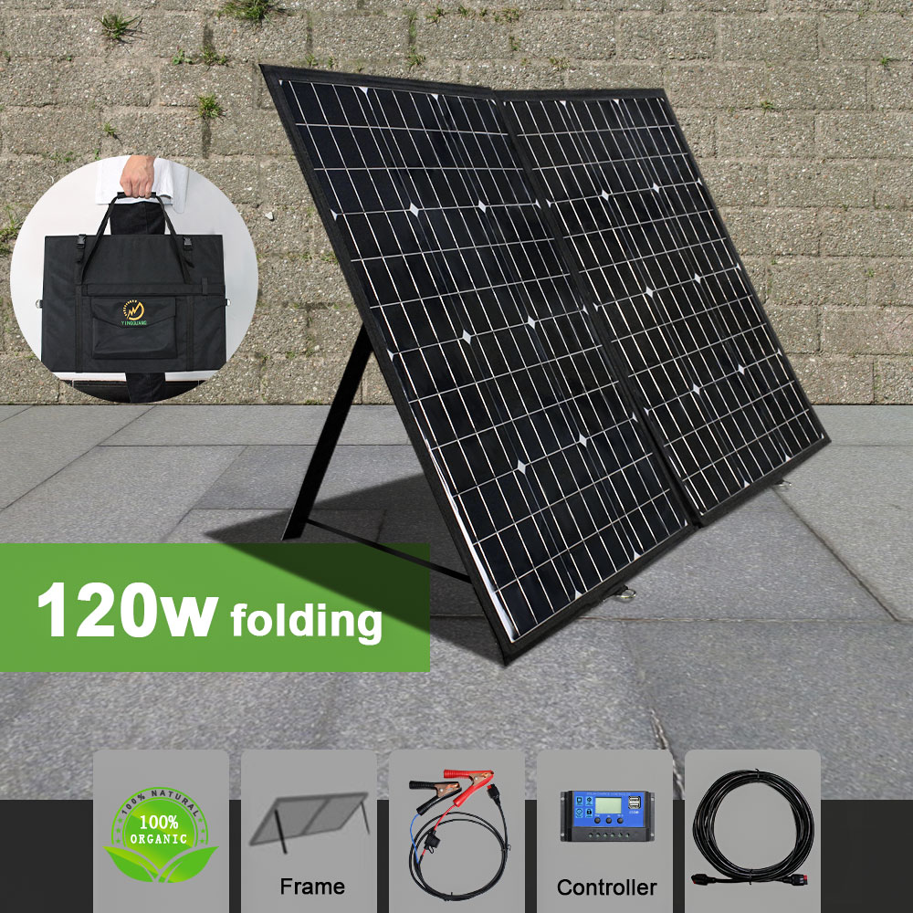 120W 12V Flexible Solar Panel Portable Outdoor Foldable For Camping/Boat/RV/Travel/Home/Car solar-powered charger panel kits