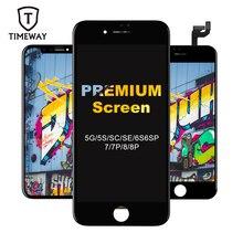 Tianma montaje de pantalla LCD táctil para iPhone, digitalizador de pantalla LCD de calidad táctil, sin píxeles muertos, para iPhone 6, 6P, 7, 7P, 8, 8P