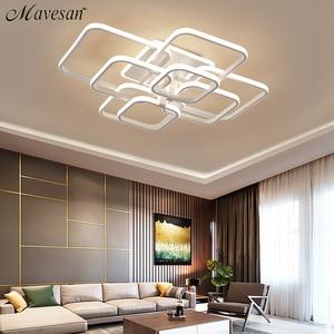 Image 3 - Acylic תקרת אורות כיכר טבעות לסלון חדר שינה בית AC85 265V מודרני Led תקרת מנורת גופי זוהר plafonnier