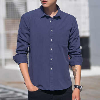 Kcoyster Spring Men\'s Flannel Shirts Long Sleeve 100% Cotton Comfortable Casual Shirt Men Slim Fit Brand Clothing Plus Size 4XL