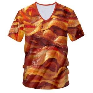 Deliciosa Camiseta con estampado de tocino de ternera para hombres/mujeres, graciosas camisetas con estampado 3D a la parrilla, camisetas de manga corta personalizadas, camisetas de Hip hop para hombres