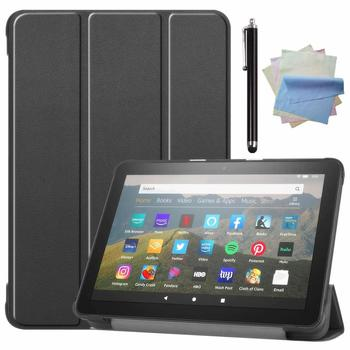 Case for Amazo All-New Fire HD 8 Plus 2020 / Fire HD 8 2020 PU Leather Ultra Slim Case Tri-Fold Cover Protective Tablet Cover image
