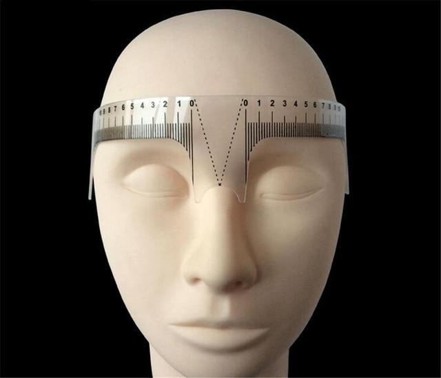 1pcs Permanent Makeup Plastic Eyebrow Ruler Paint the Eyebrows Caliper Measuring Stencils Tool Tattoo Accessories 4