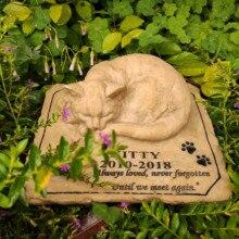 Pet Memorial Steine Personalisierte Name Datum Katze Memorial Steine Grabsteine Freien oder Drinnen für Garten Hinterhof Grab Marker